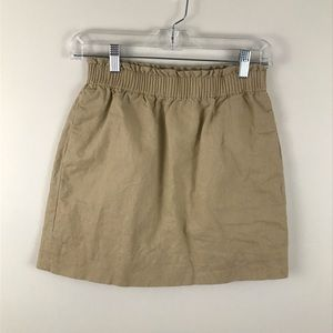 J. Crew Linen Blend Mini Skirt